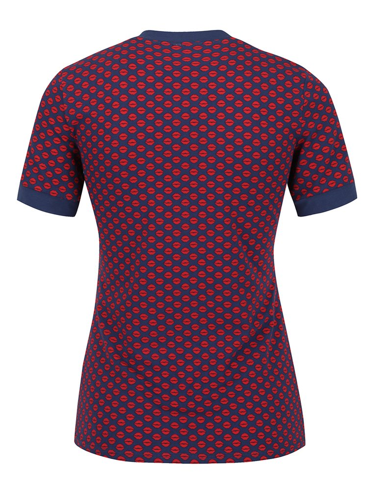 Červeno-modré vzorované tričko Blutsgeschwister