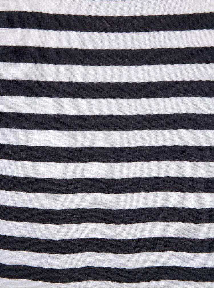 Krémovo-čierne dámske pruhované tričko Garcia Jeans
