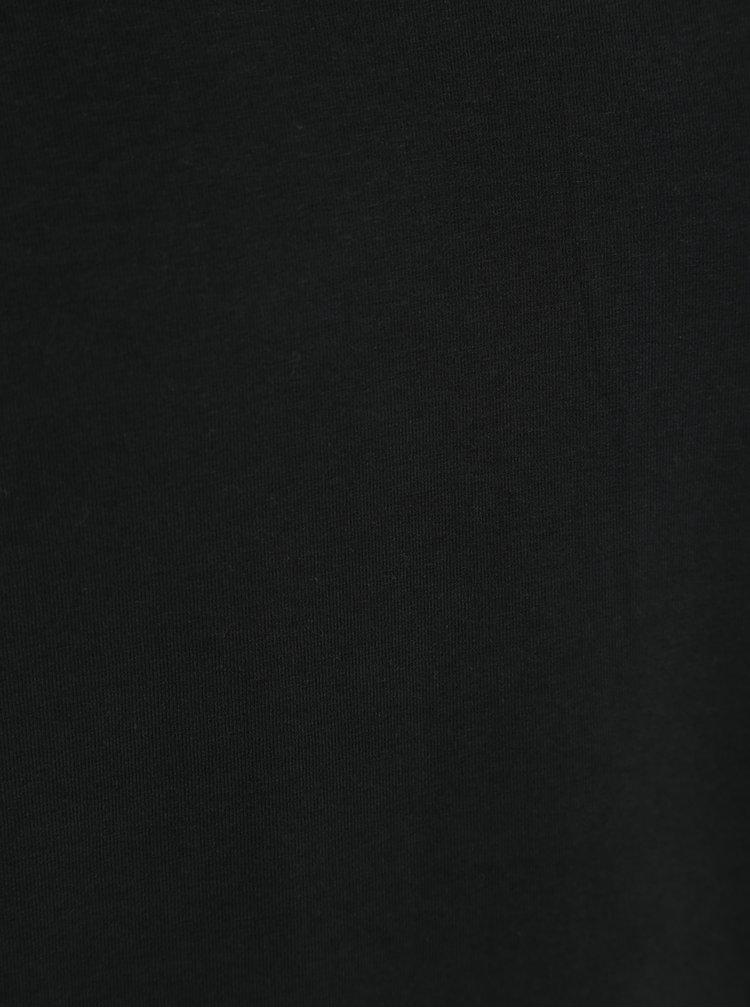 Černé pánské basic tričko s véčkovým výstřihem Garcia Jeans Remco