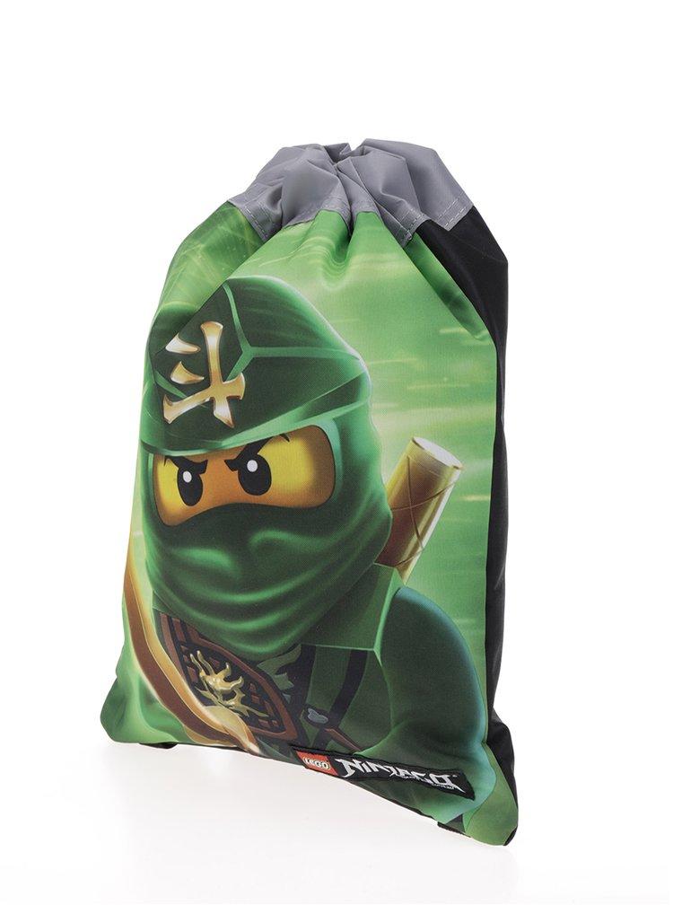 Černo-zelený klučičí vak LEGO Wear Ninjago Lloyd