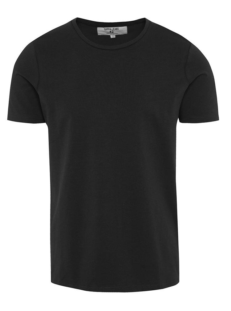 Tricou negru basic pentru barbati Garcia Jeans Enrico