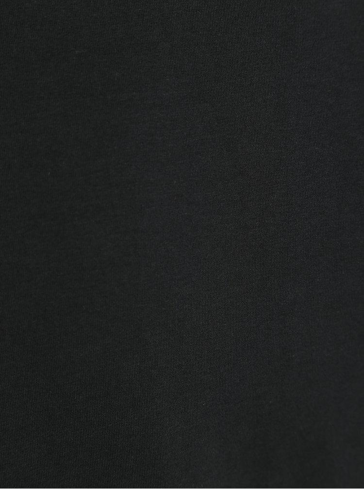 Černé pánské basic tričko Garcia Jeans Enrico