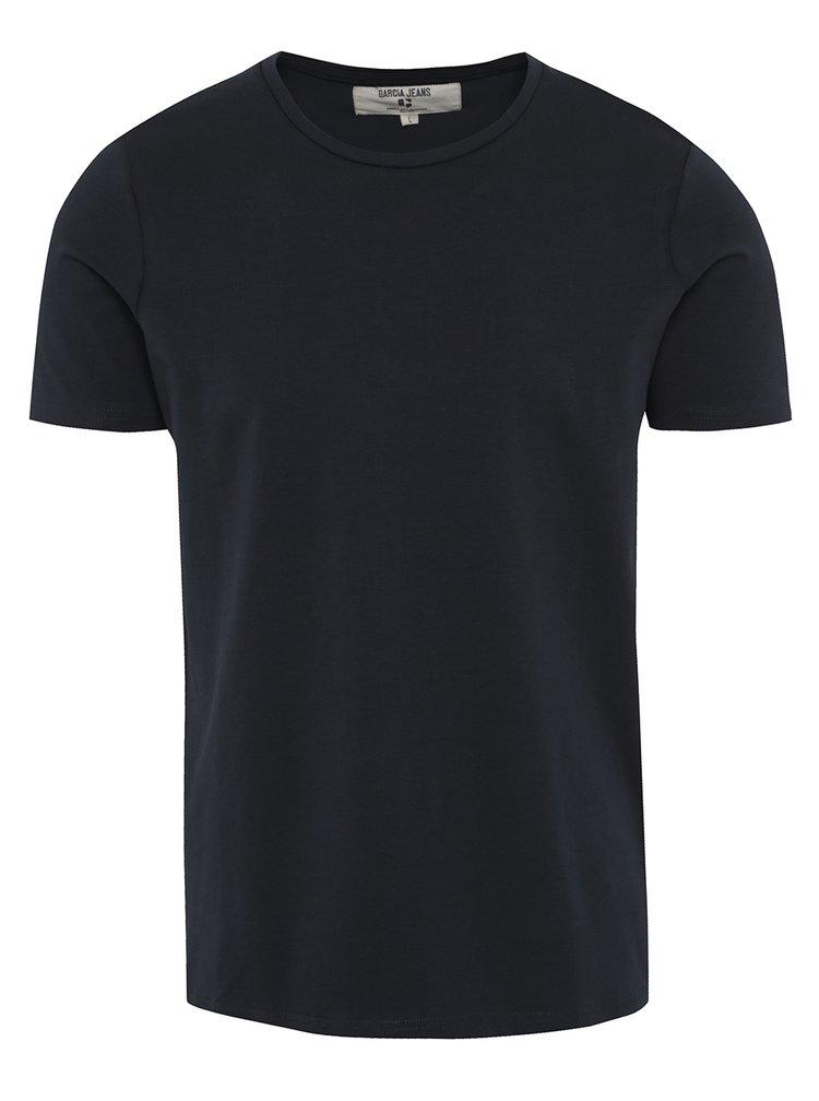 Tmavě modré pánské basic tričko Garcia Jeans Enrico