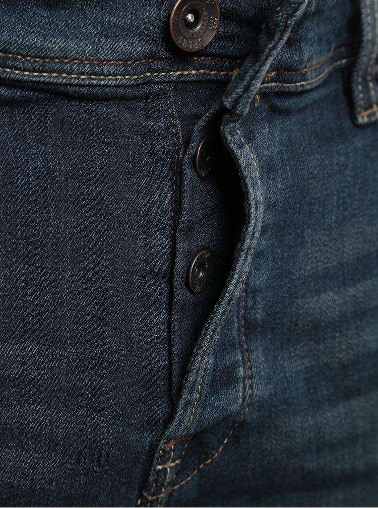 Blugi albastru inchis slim fit pentru barbati Garcia Jeans Savio