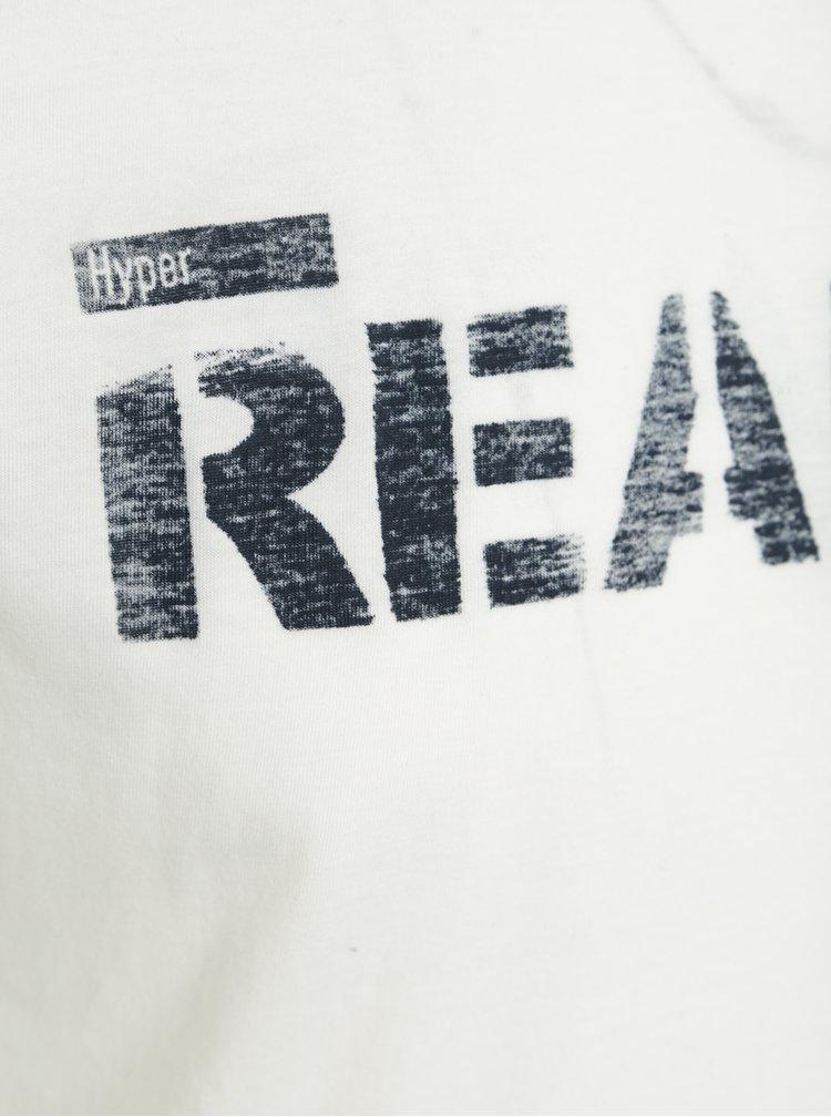 Tricou alb fildes cu print Garcia Jeans Marco pentru barbati