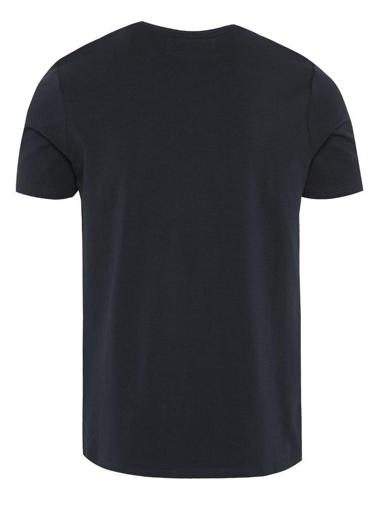 Tmavě modré pánské triko s potiskem Garcia Jeans