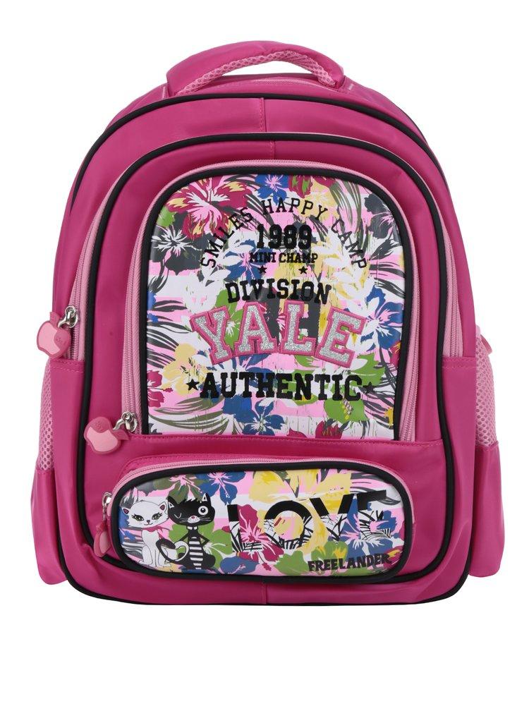 Růžový holčičí batoh s potiskem Freelander Triple Gusset 14 l