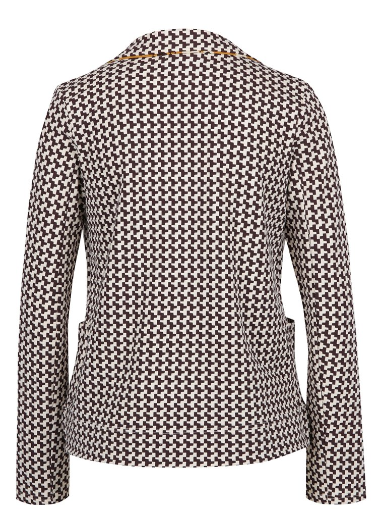 Sacou cambrat cu print Houndstooth Blutsgeschwister