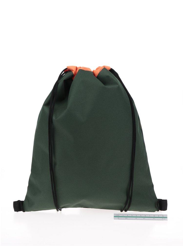 Tmavě zelený holčičí maskáčový vak Freelander Striker 5 l