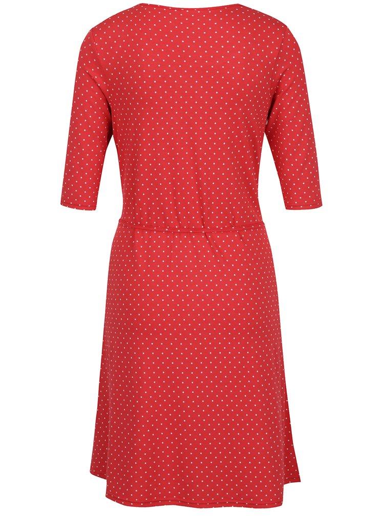 Červené puntíkované šaty s 3/4 rukávy Blutsgeschwister