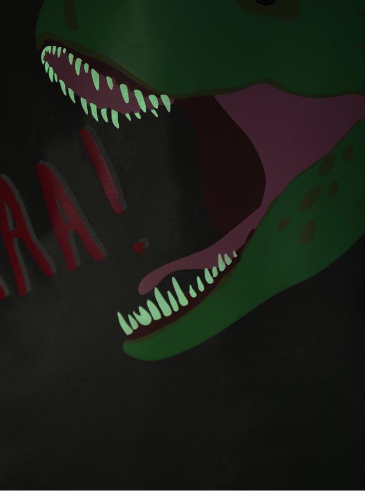 Šedý dětský vak s motivem dinosaura Tom Joule