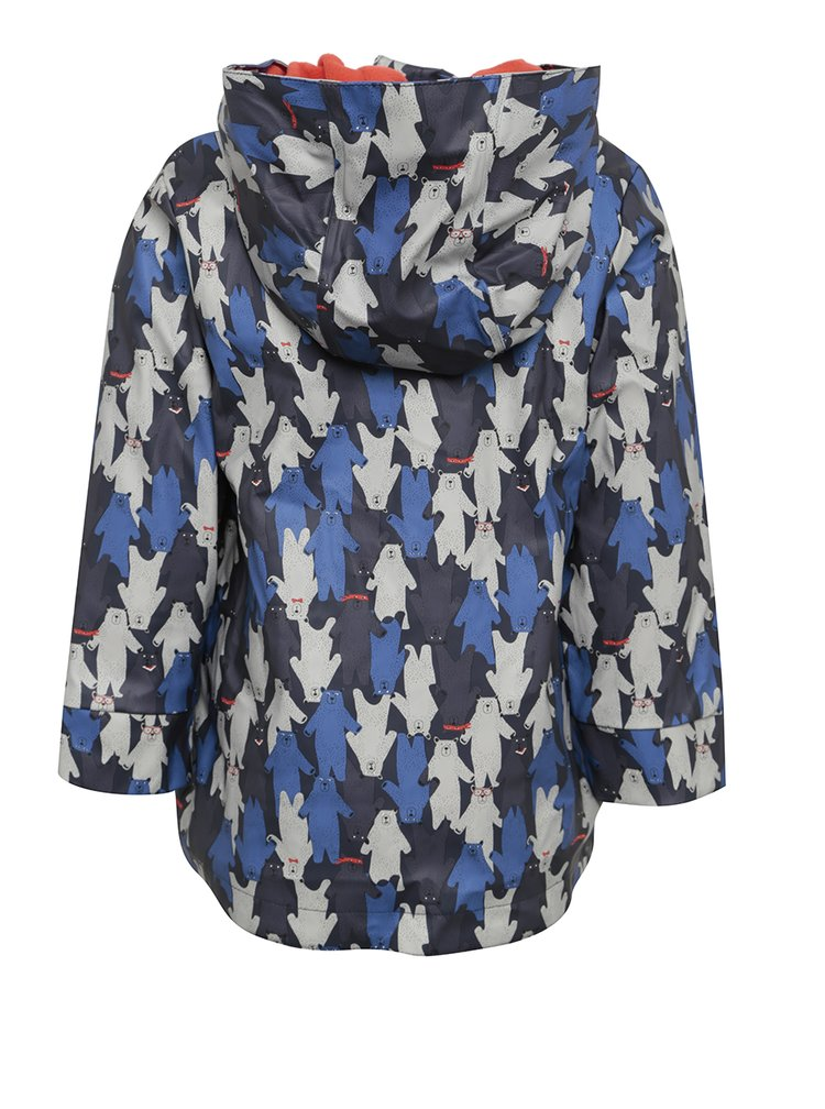 Jachetă impermeabilă albastră cu print cu urși pentru copii Tom Joule