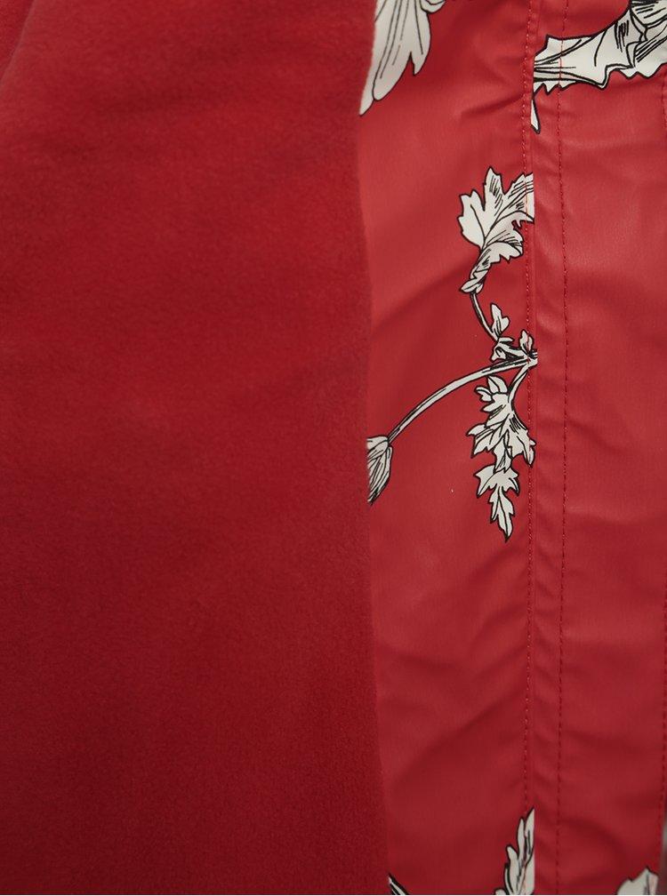 Červená holčičí voděodolná květovaná bunda Tom Joule