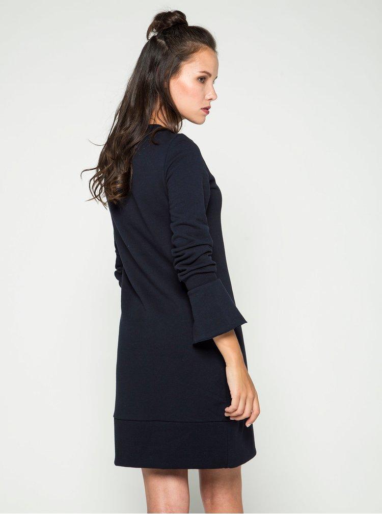 Rochie albastru inchis VILA Mista cu maneci clopot