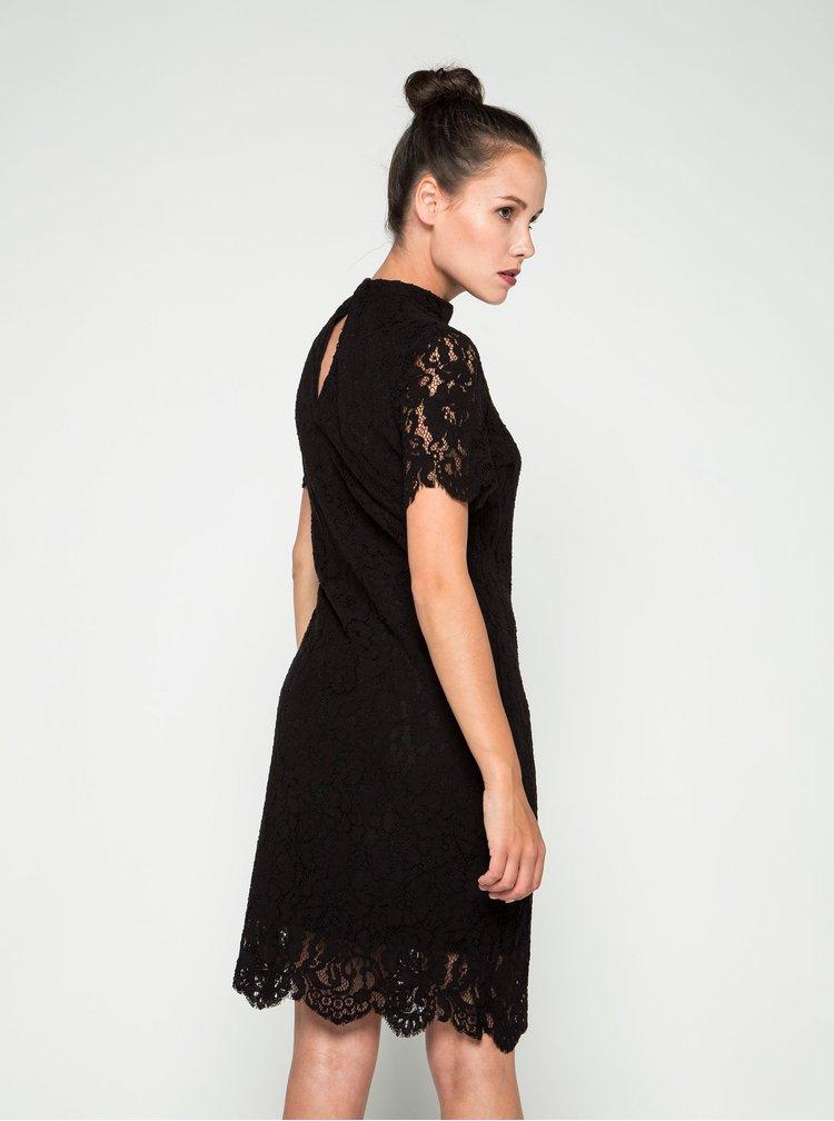 Rochie neagră din dantelă cu mâneci scurte VERO MODA Elvira