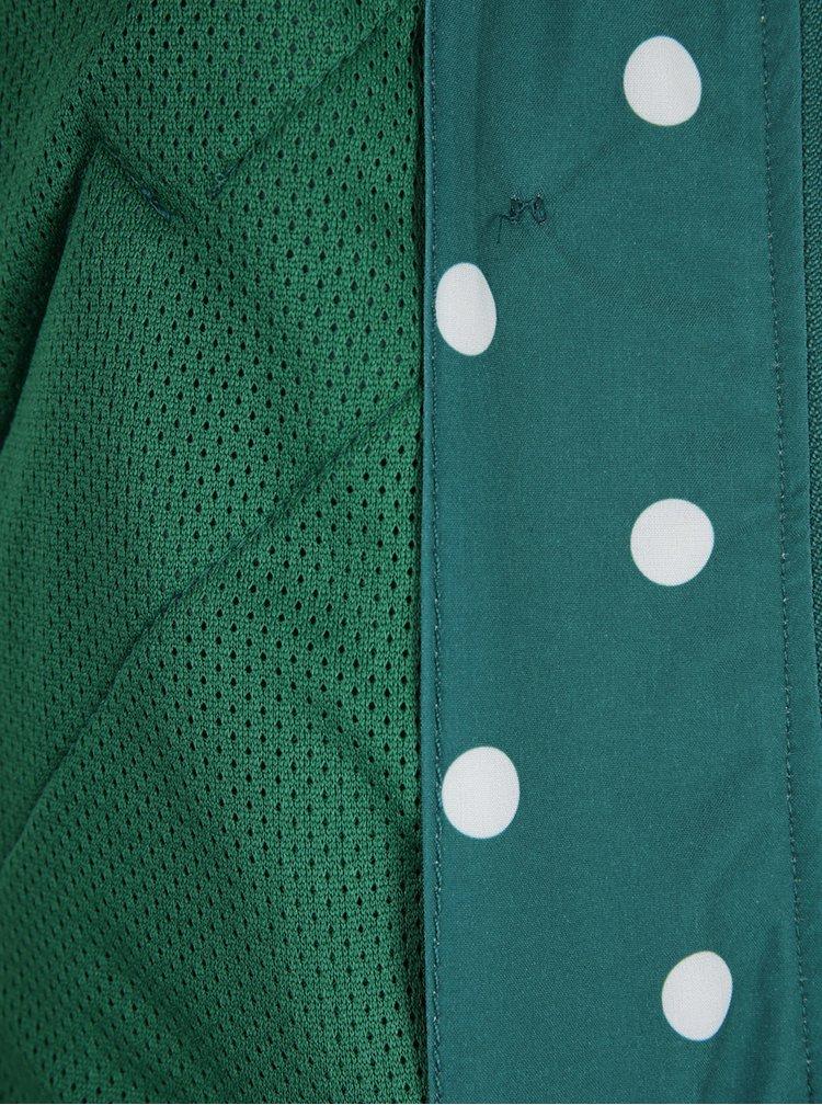 Zelená nepremokavá bodkovaná bunda Blutsgeschwister
