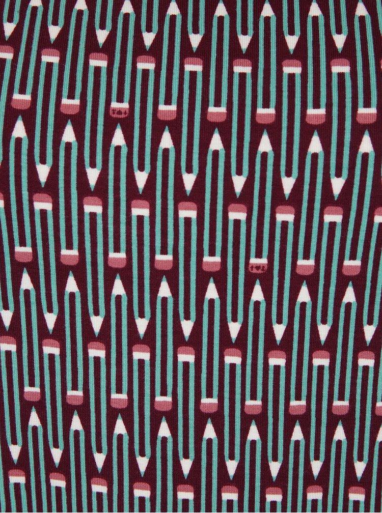 Bluză cu print grafic multicolor  Blutsgeschwister
