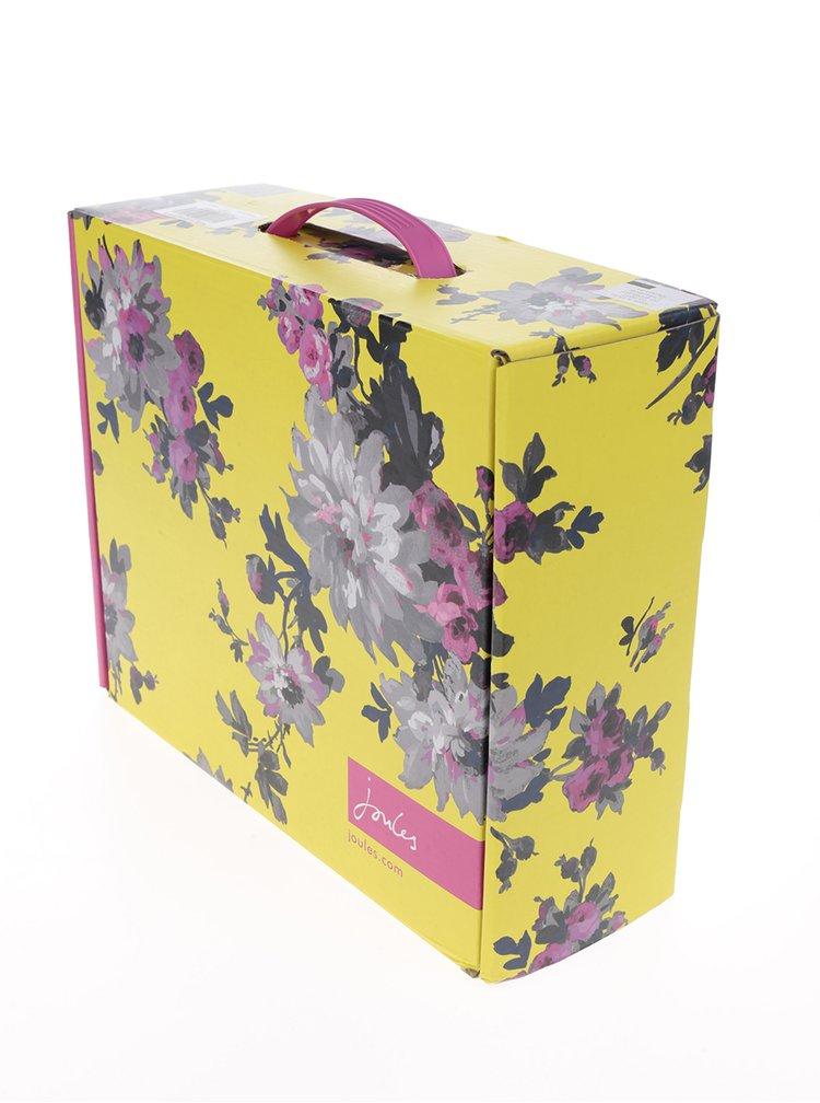 Ghete chelsea bleumarin din cauciuc cu flori  Tom Joule