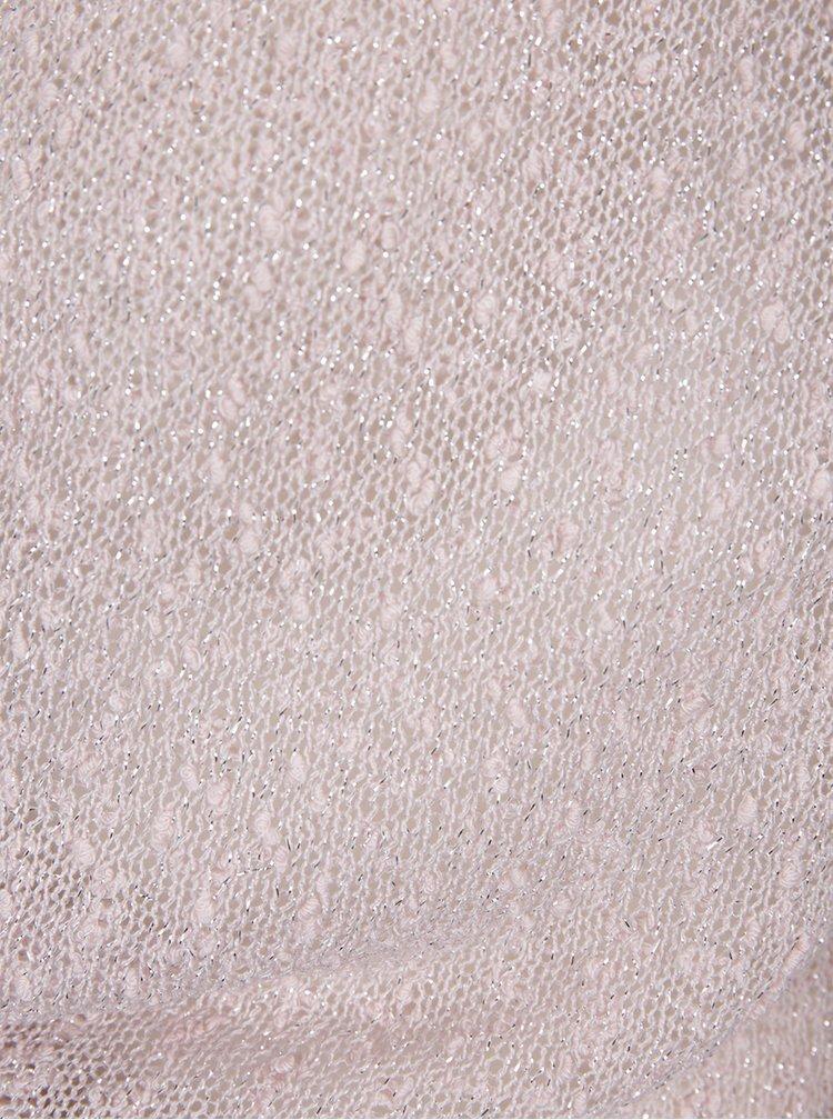 Bolero roz pal cu detalii argintii si decupaje  - M&Co