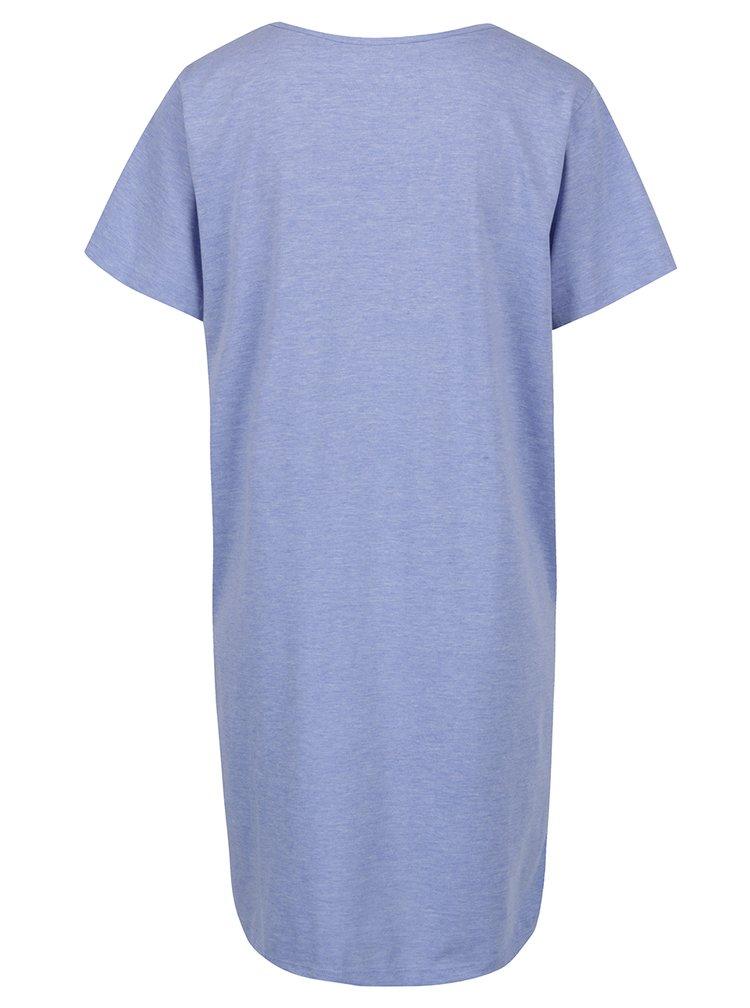 Cămașă de noapte albastru deschis cu mânecă scurtă  - M&Co