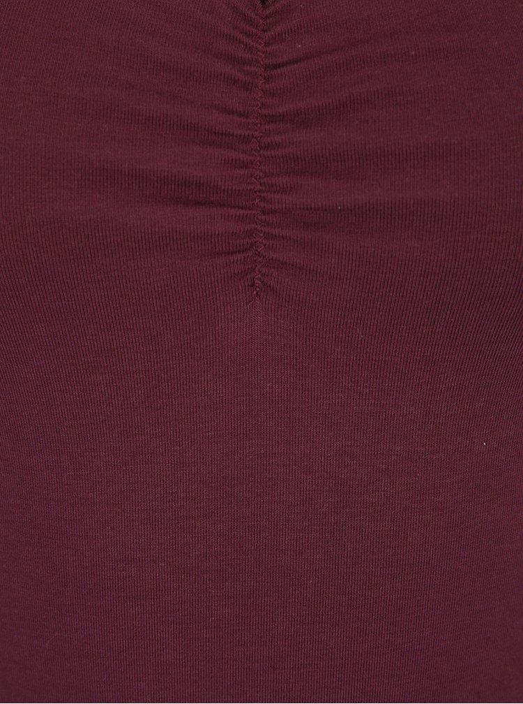 Body roșu bordo cu bretele subțiri Blutsgeschwister