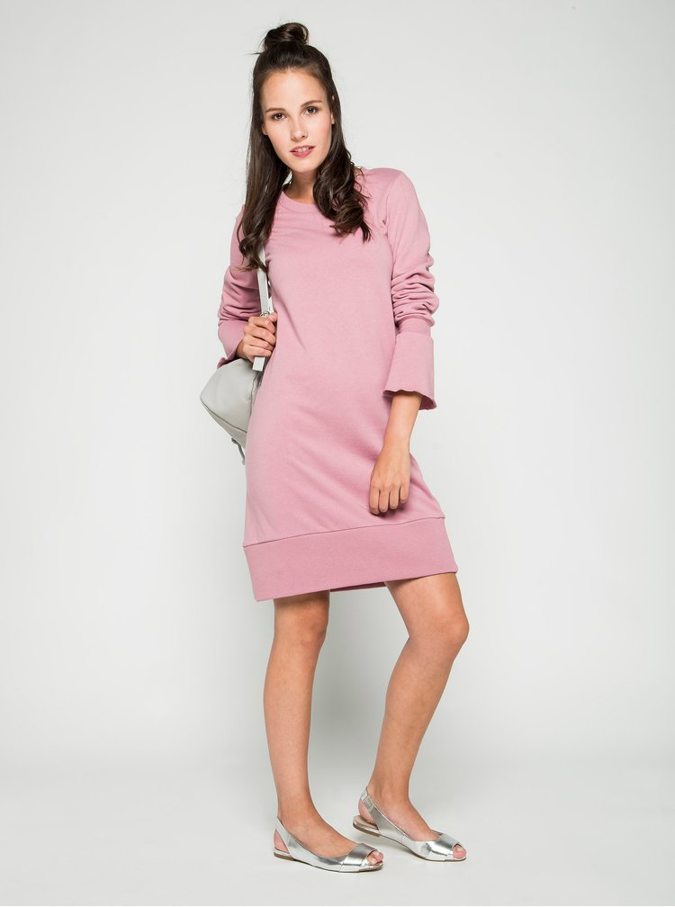 Rochie roz prăfuit VILA Mista cu mâneci clopot