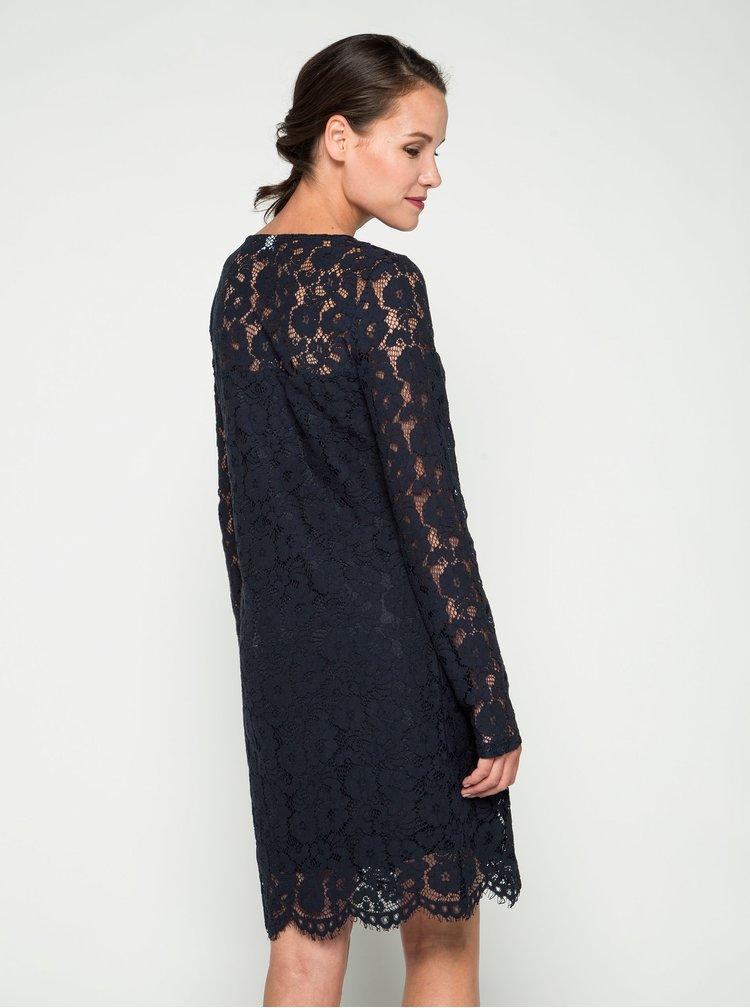 Tmavě modré krajkové šaty VILA Cary