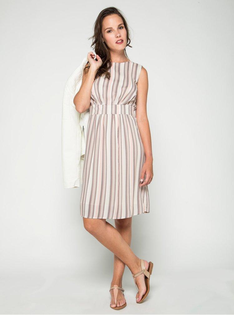 Béžovo-krémové pruhované šaty Apricot