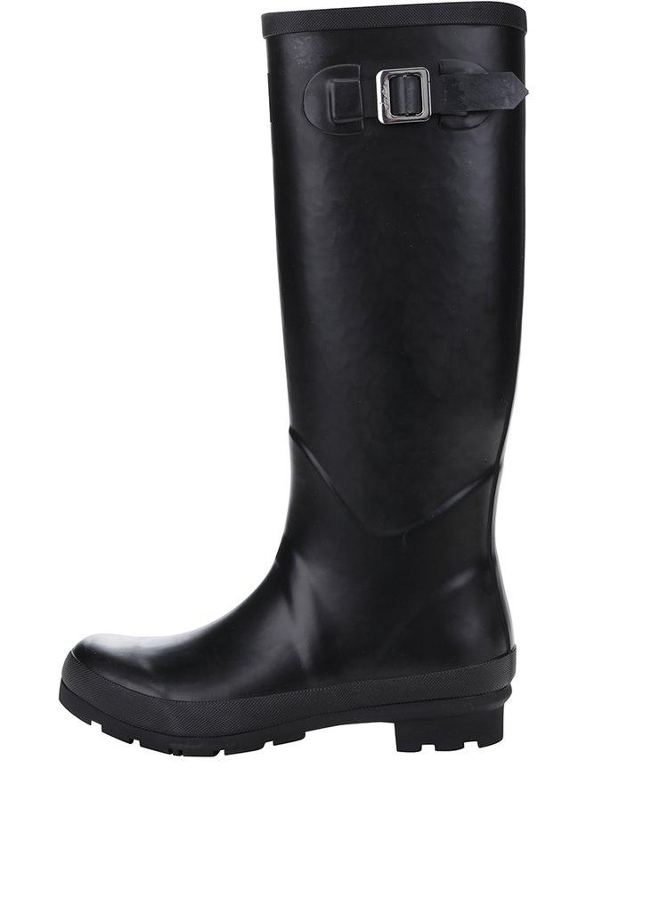 Cizme negre lungi de cauciuc pentru femei Tom Joule