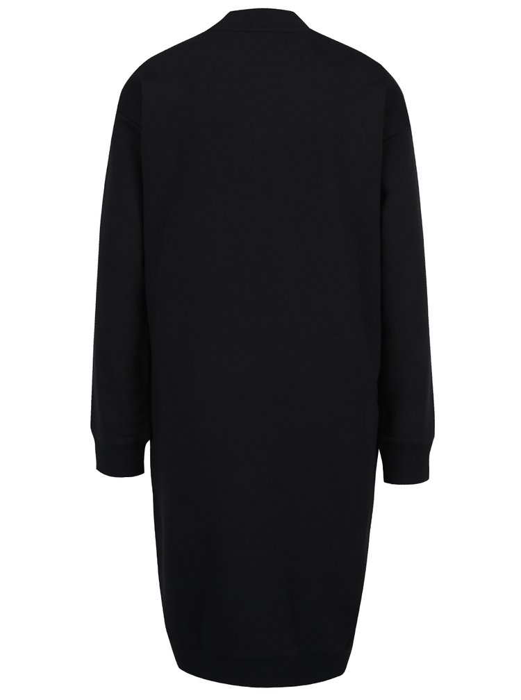 Černé mikinové šaty s potiskem adidas Originals