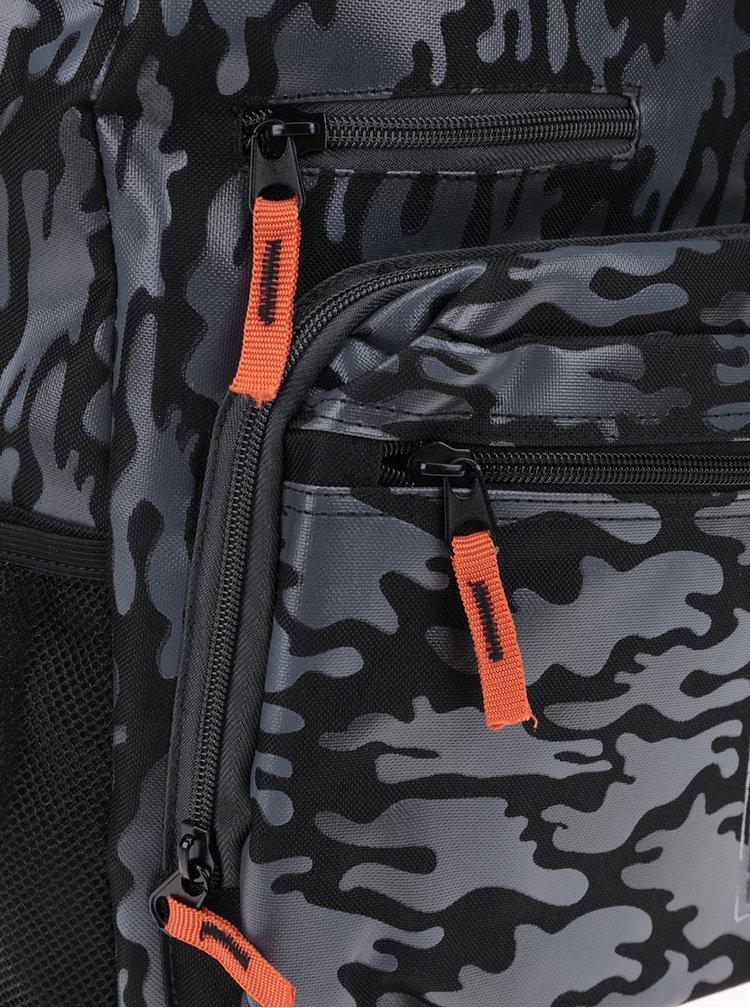 Černo-šedý klučičí maskáčový batoh Freelander Digi Tec 30 l