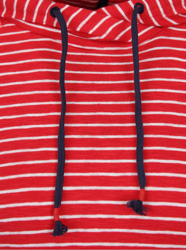 Hanorac în dungi roșu cu alb Tom Joule