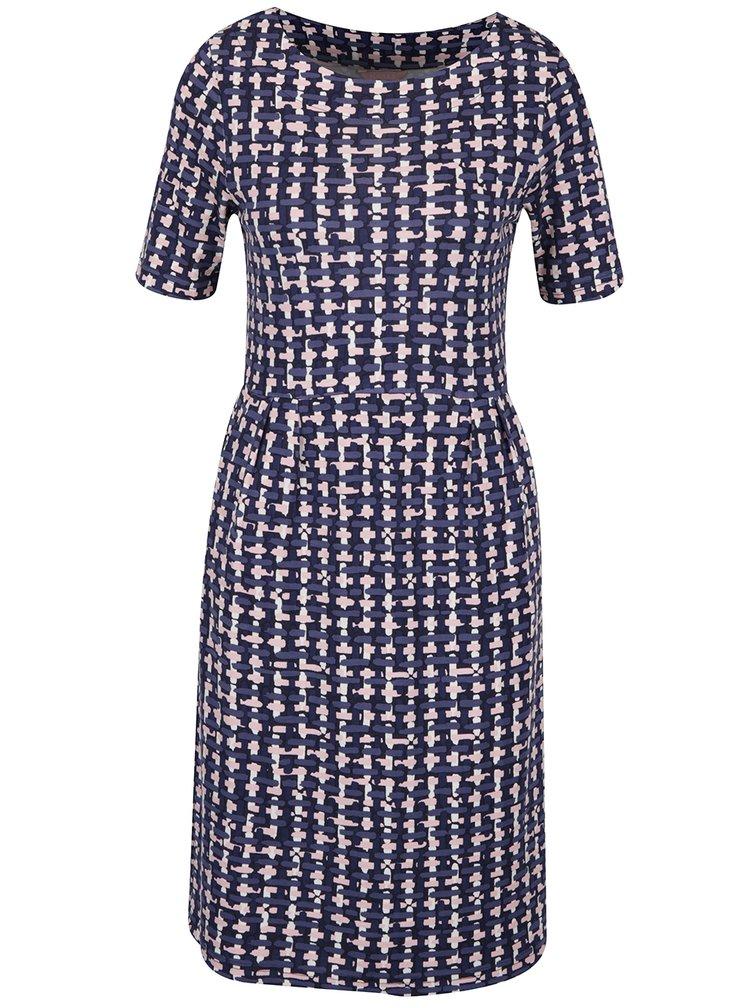 Tmavě modré dámské vzorované šaty Tom Joule