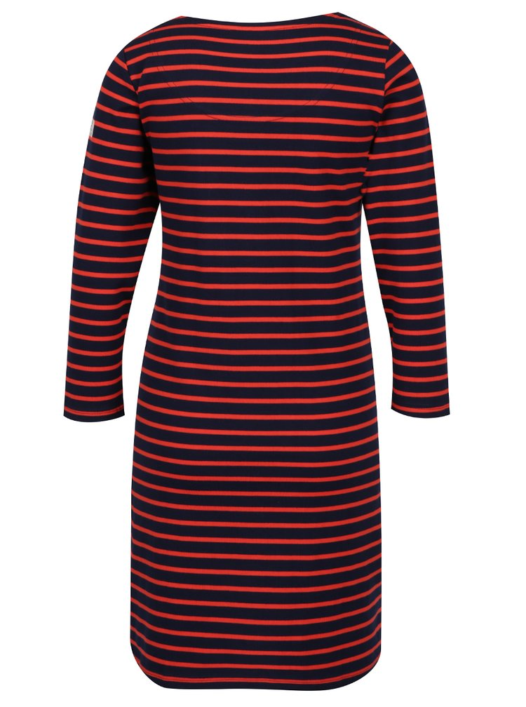 Rochie midi în dungi bleumarin cu roșu Tom Joule