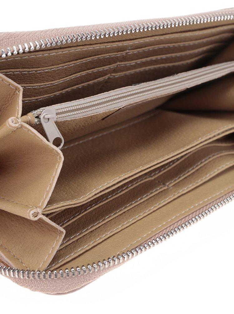 Starorůžová kožená velká peněženka ZOOT