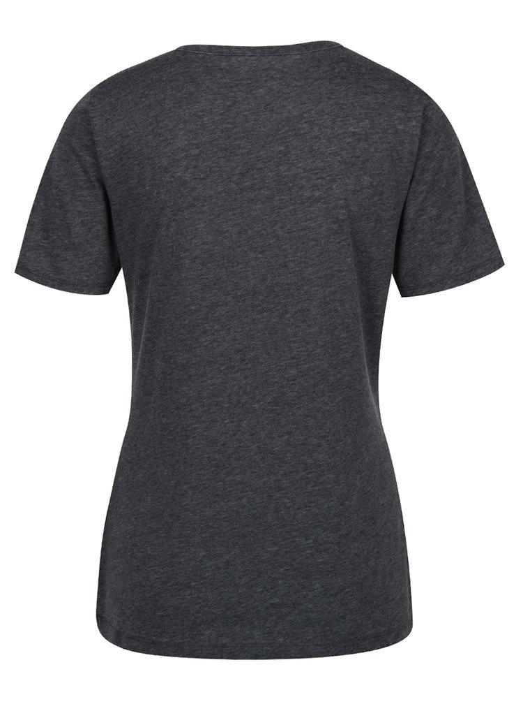 Sivé melírované tričko ONLY Chocker Truly