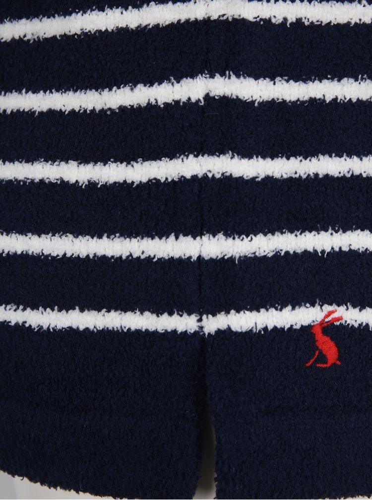 Bluza din fleece bleumarin cu dungi crem Tom Joule