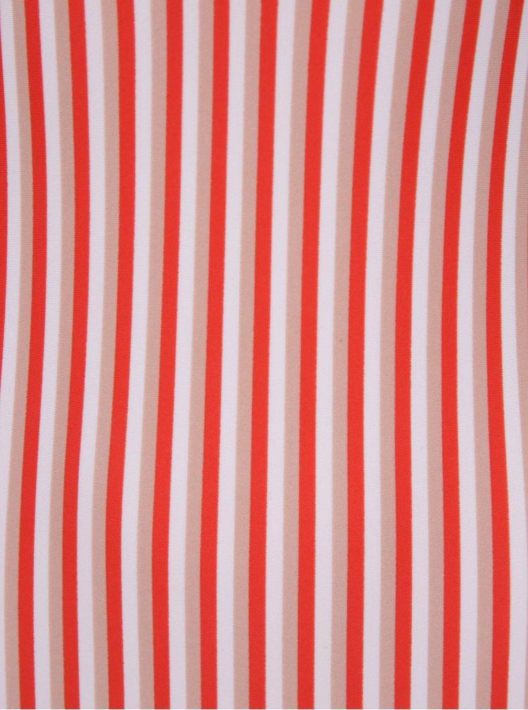 Krémovo-červené pruhované jednodílné plavky Y.A.S  Cayenne