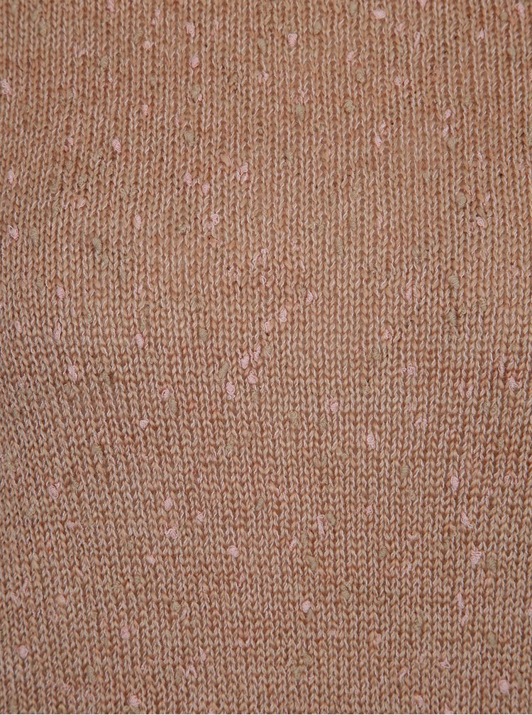 Pulover  tricotat fin roz prafuit cu maneci bufante - VILA Addy