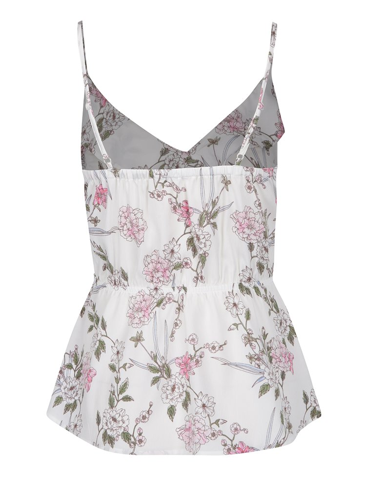 Top alb cu model floral TALLY WEiJL