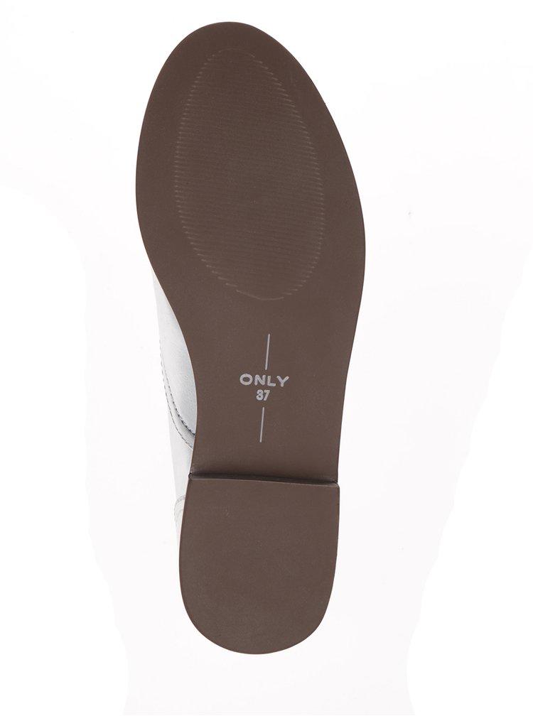 Pantofi oxford gri cu aspect metalic - ONLY Tango