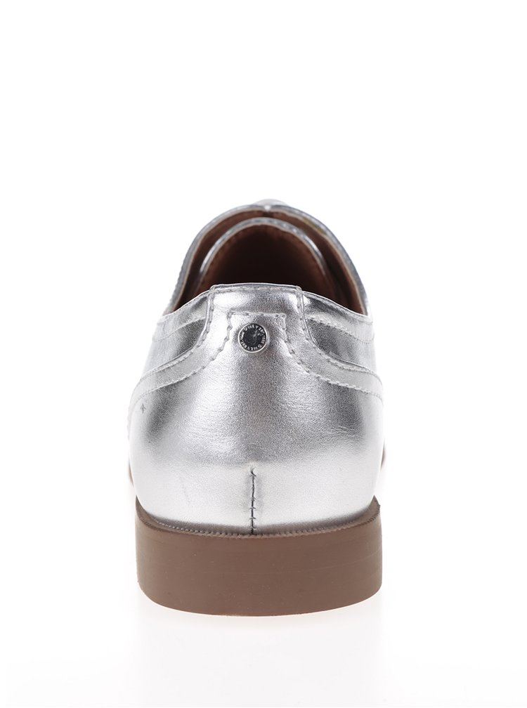 Metalické polobotky ve stříbrné barvě ONLY Tango