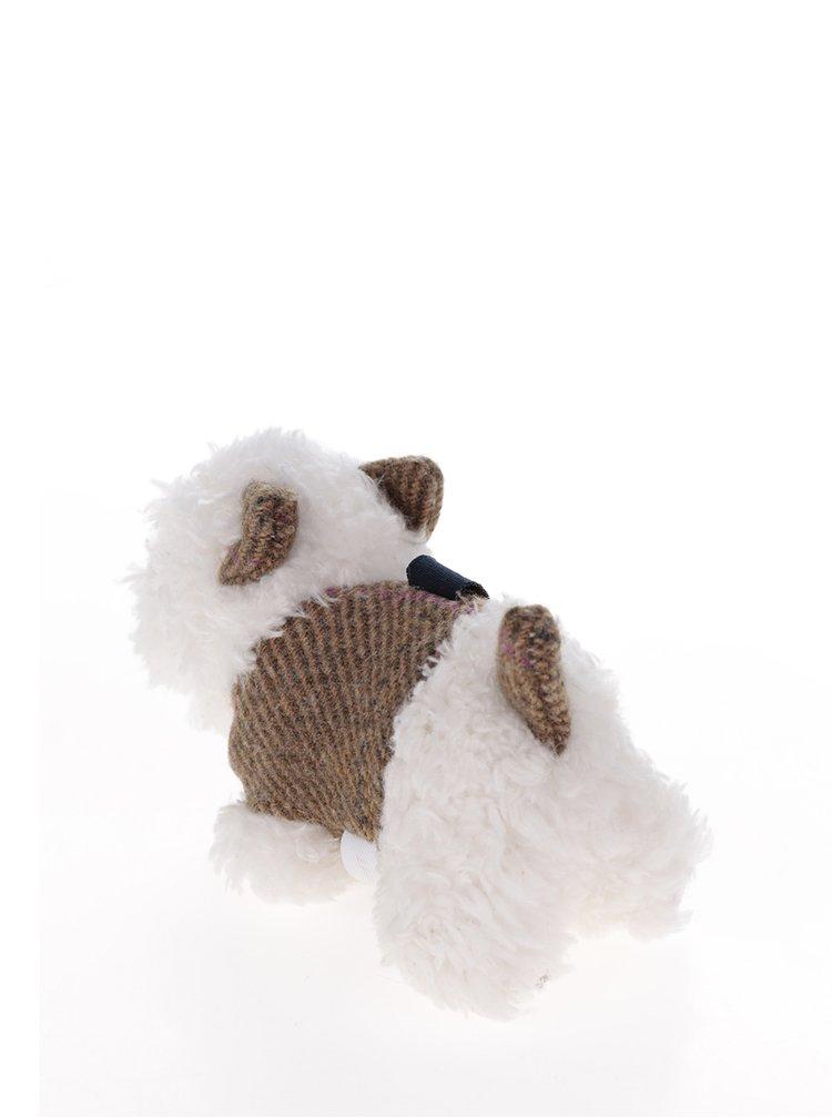 Krémovo-hnědý dámský přívěsek na klíče ve tvaru psa Tom Joule