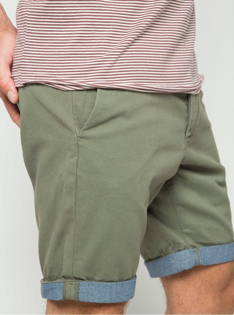 Pantaloni scurti chino kaki Jack & Jones Peek
