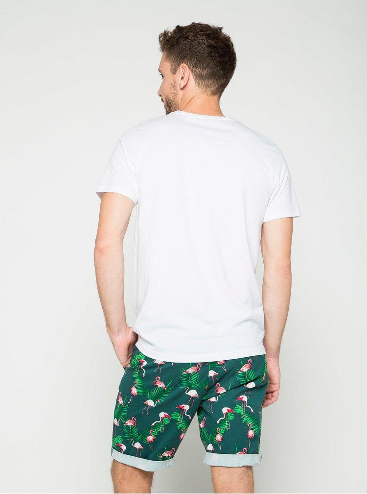 Pantaloni scurți chino verzi Jack & Jones Graham cu imprimeu