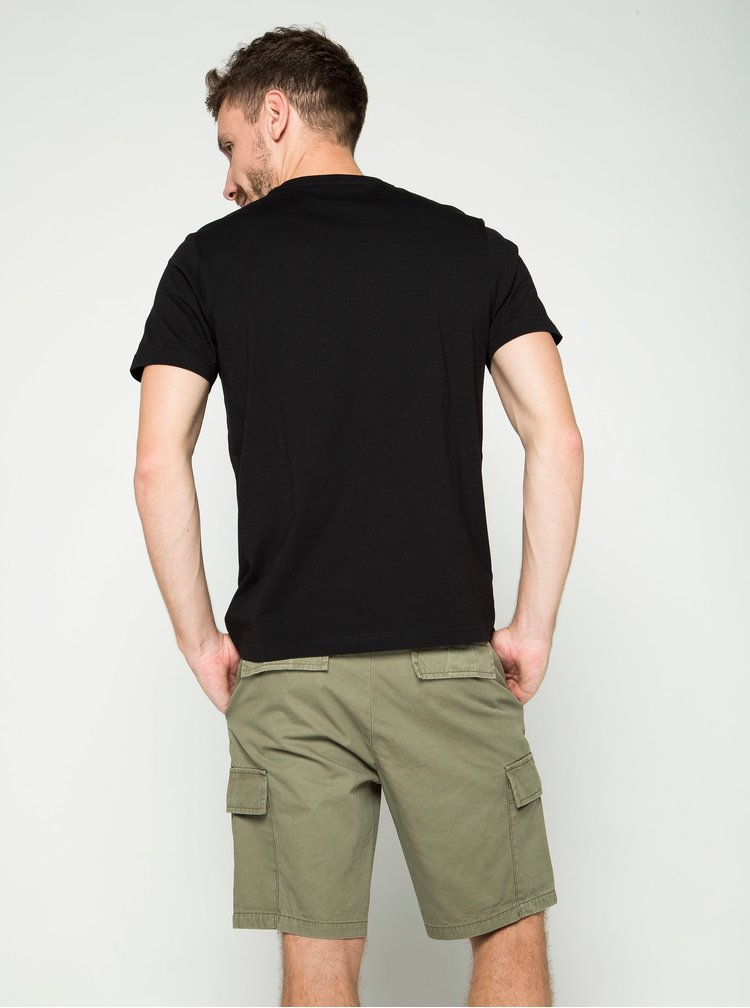 Černé pánské triko s potiskem s.Oliver