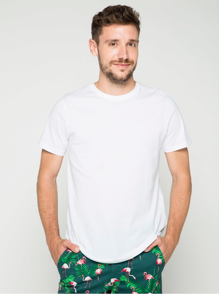 Tricou basic alb Burton Menswear London