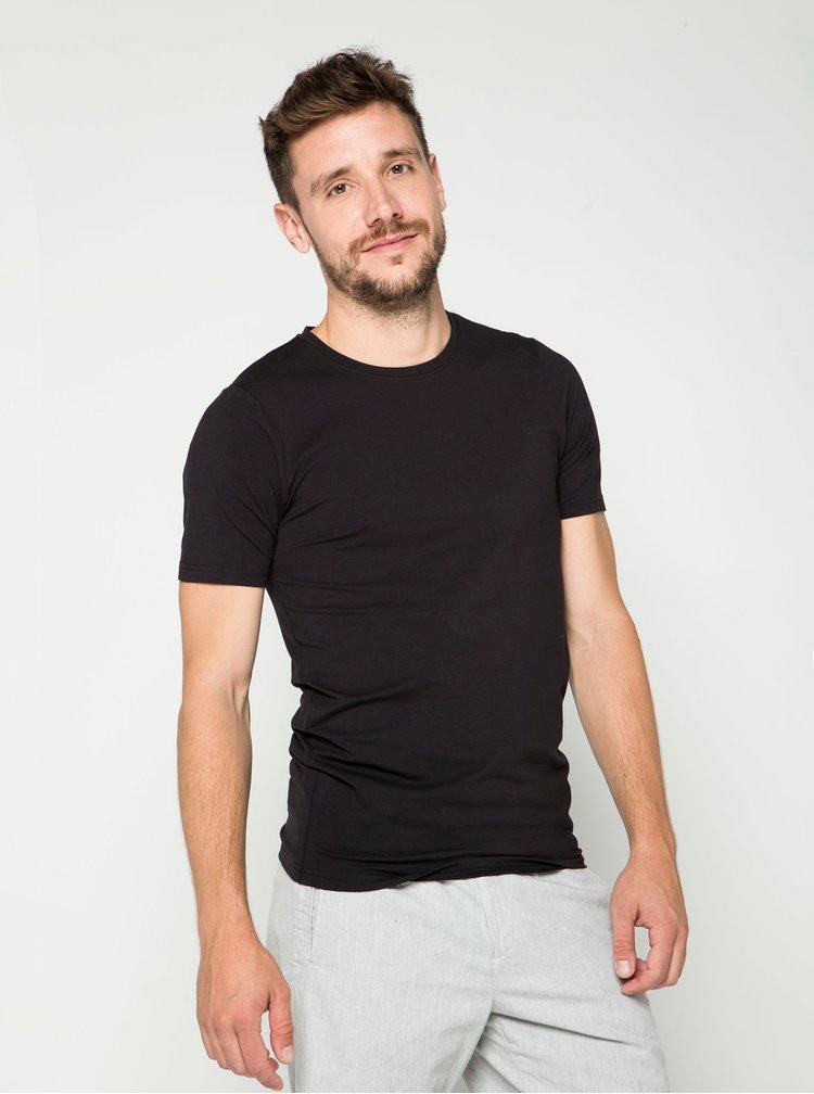 Tricou basic negru ONLY & SONS Basic cu croi drept