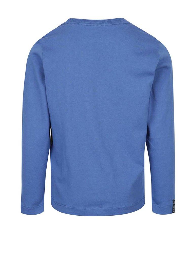 Modré klučičí vzorované triko s dlouhým rukávem Lego Wear Teo