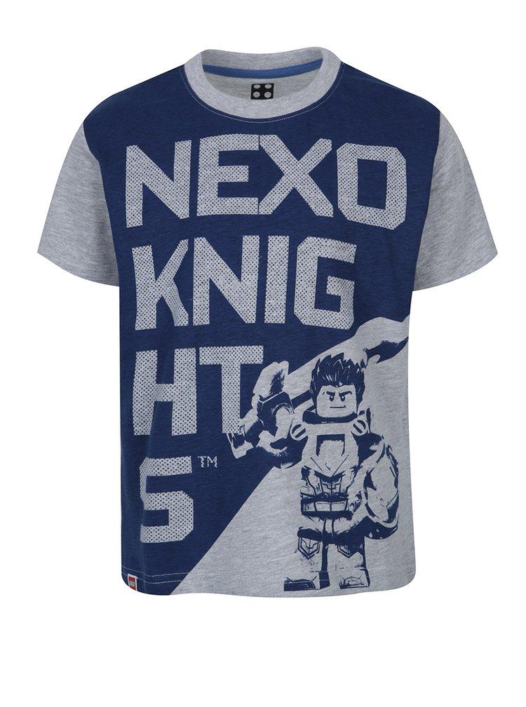 Sivé melírované vzorované chlapčenské tričko Lego Wear